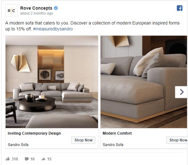 Facebook furniture ads