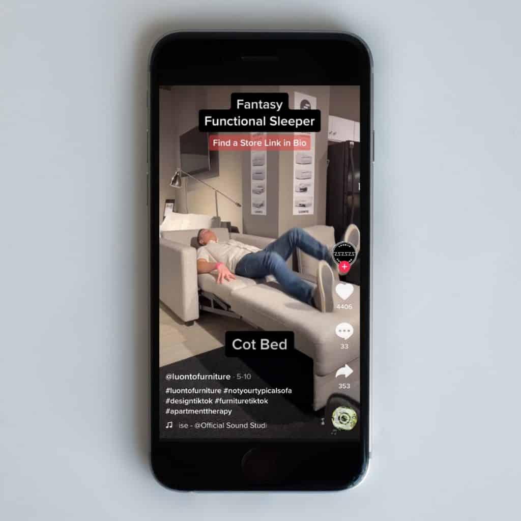 furniture marketing tiktok
